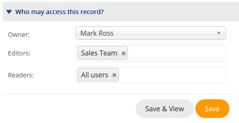 TeamGram CRM access controls give you total control over user rights.