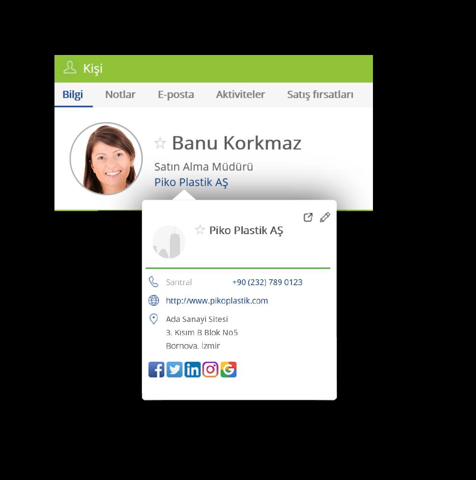 TeamGram CRM ile müşteri bilgilerinizi kaydedin, kolayca ulaşın