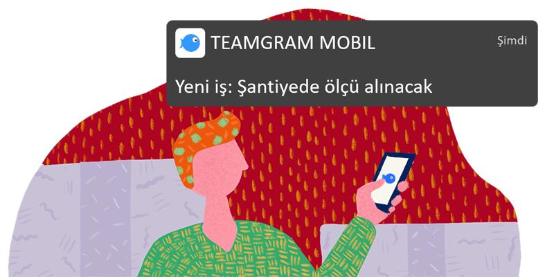 TeamGram CRM aktivitelerle ilgili önemli bildirimleri kullanıcıların mobil cihazlarına gönderir.